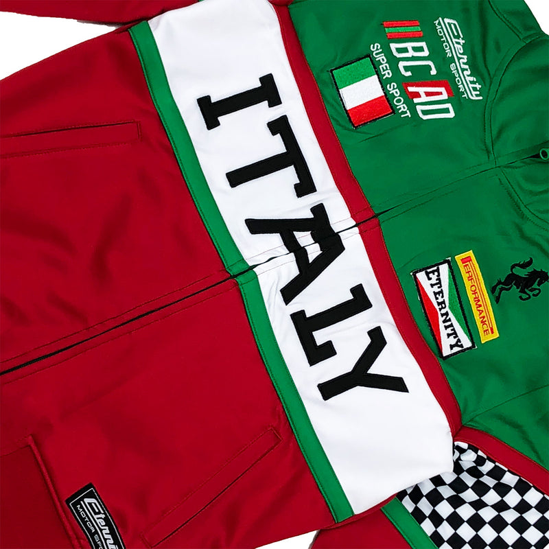 Eternity BC / AD Italy Moto Track jacket Red Front