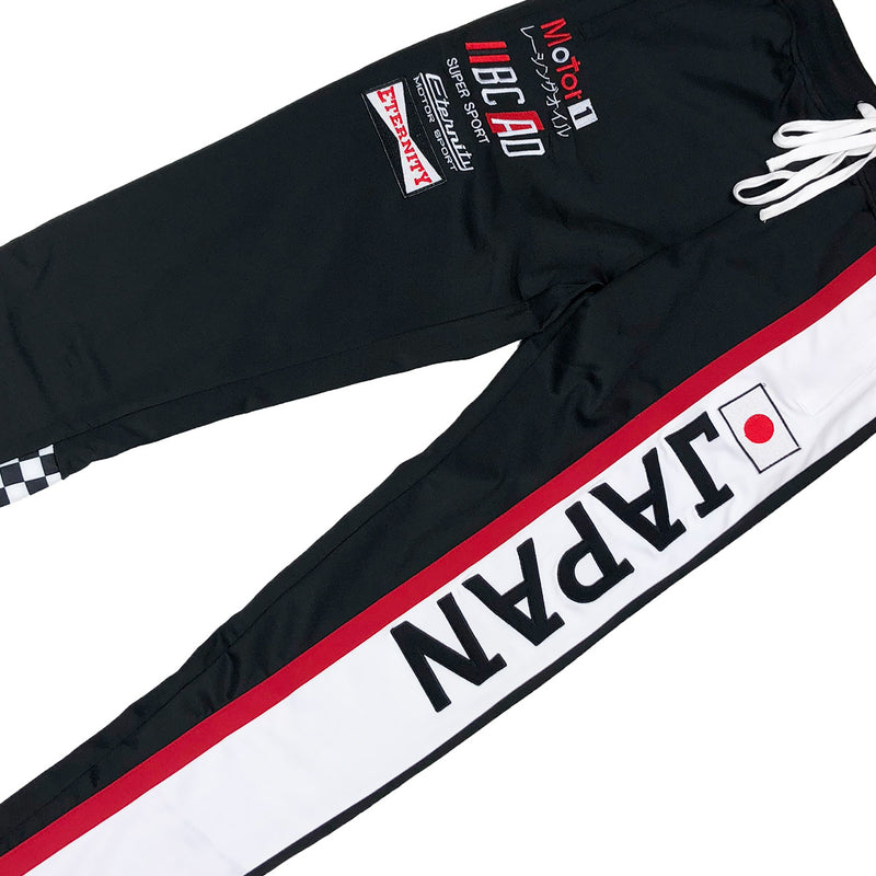 Eternity BC / AD Japan Moto Track Pants Black Front