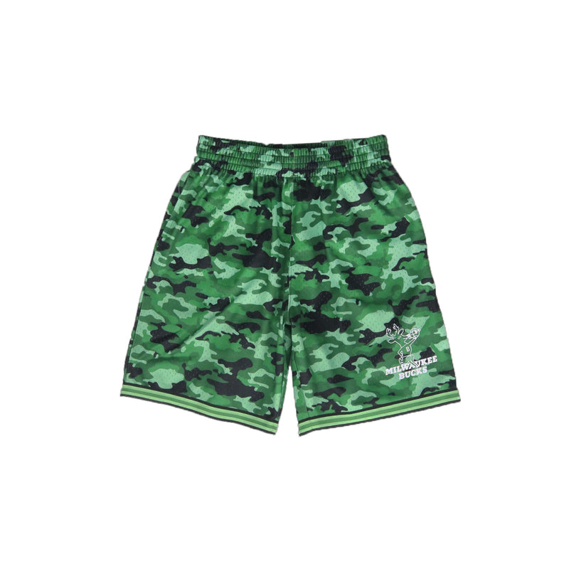 Mitchell & Ness Milwaukee Bucks Camo Mesh Shorts