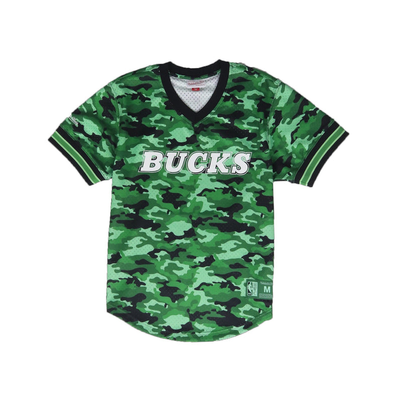 Mitchell & Ness Milwaukee Bucks Mesh V Neck