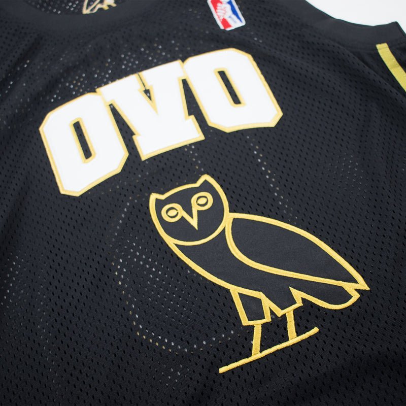 Headgear Classics Drake OVO Basketball Jersey Black Front Artwork