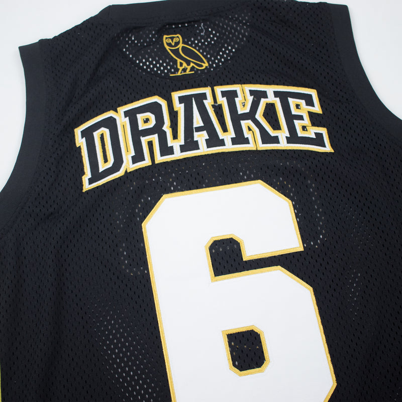 Headgear Classics Drake OVO Basketball Jersey Black Name & Number