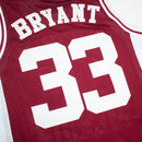 Headgear Classics Kobe Bryant High School Basketball Jersey Maroon Patches