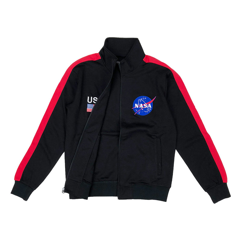 Hudson Outerwear NASA Track Jacket Black Opened
