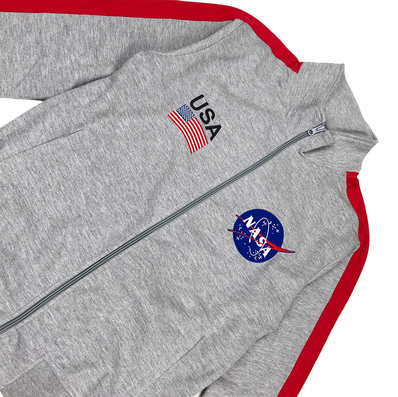 Hudson Outerwear NASA Track Jacket Grey Front