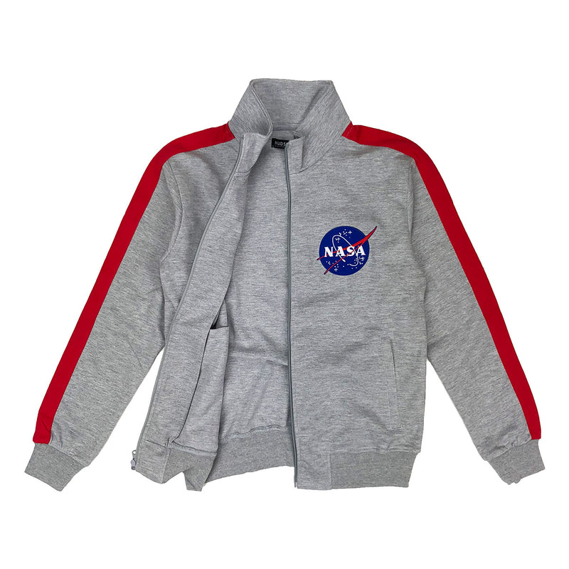 Hudson Outerwear NASA Track Jacket Grey Opened