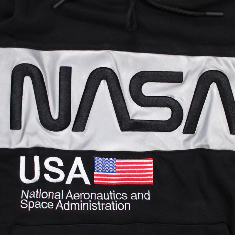 Hudson Outerwear NASA Script Pullover Hoodie Black Artwork