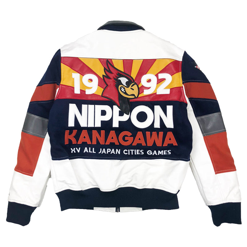 Iro-Ochi 92 Kanagawa Team Jacket Navy Blue Back