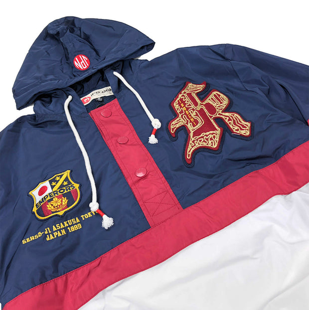 Iro-Ochi Off Course Windbreaker Navy Artwork