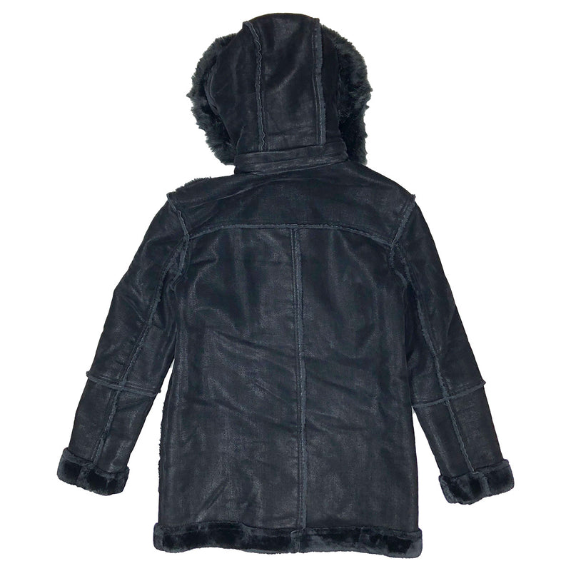 Jordan Craig Denali Shearling Jacket Black Back