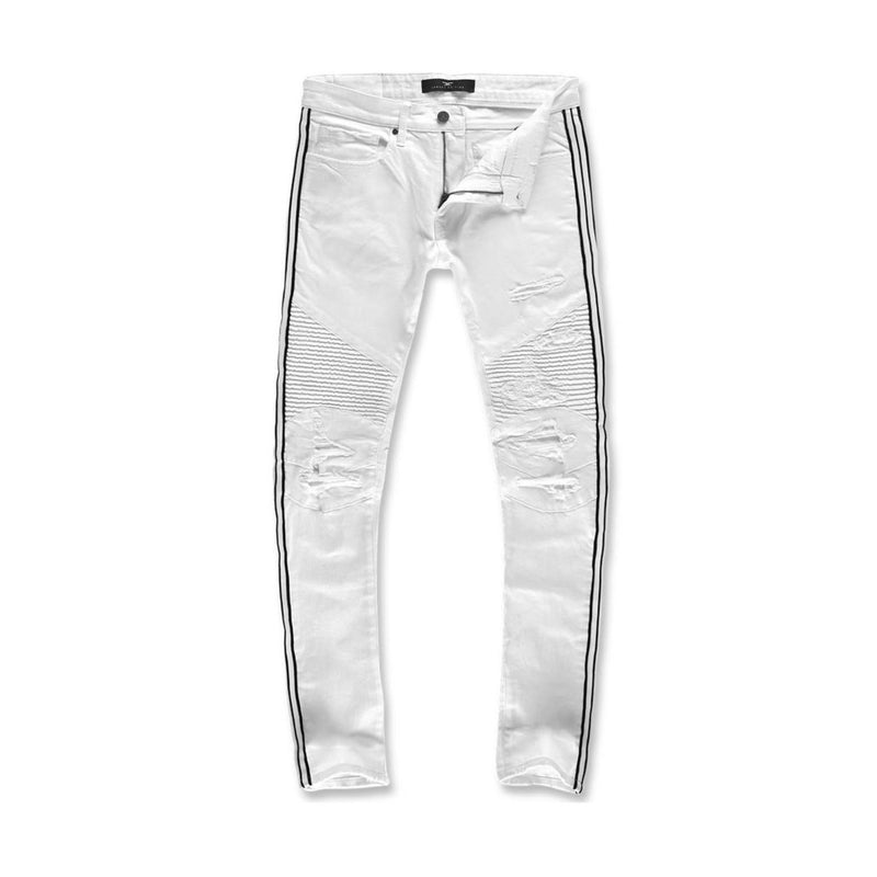 Jordan Craig Men's Diablo Striped Biker Denim