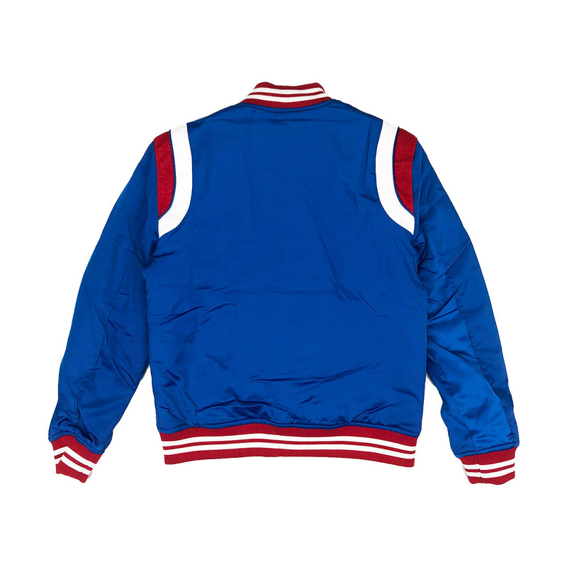 Jordan Craig Geneva Satin Varsity Jacket Royal Back