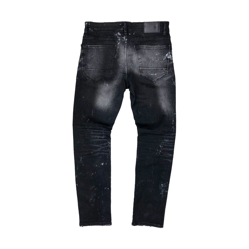 Jordan Craig Ripped Denim w/ Backing Black Back