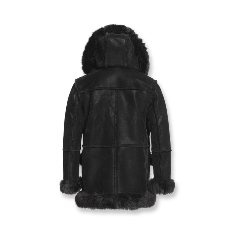 Jordan Craig Men's Aspen Shearling Jacket Black Back