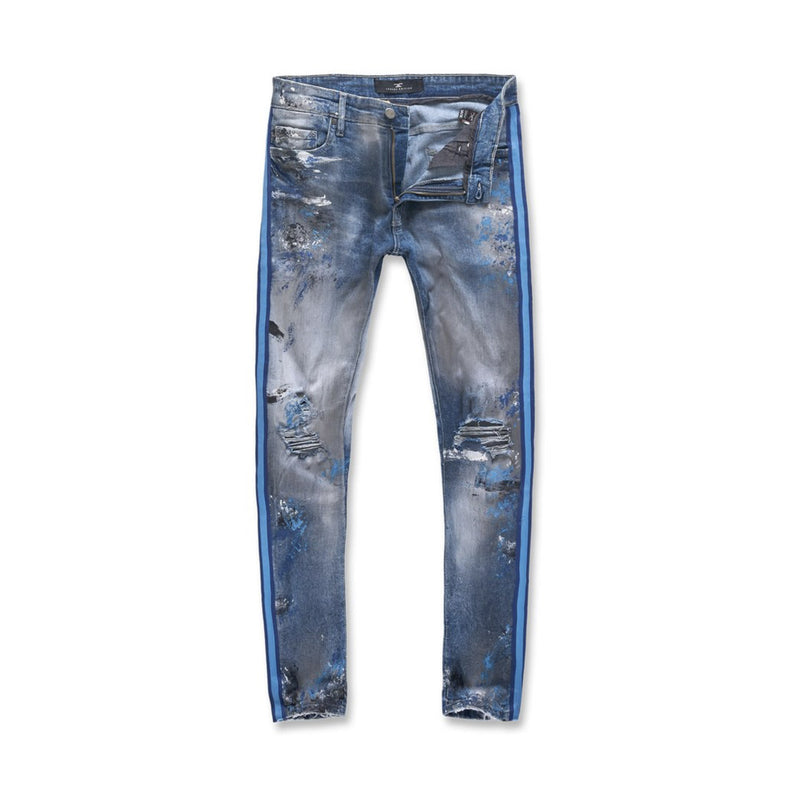 Jordan Craig Talladega Striped Denim Jeans