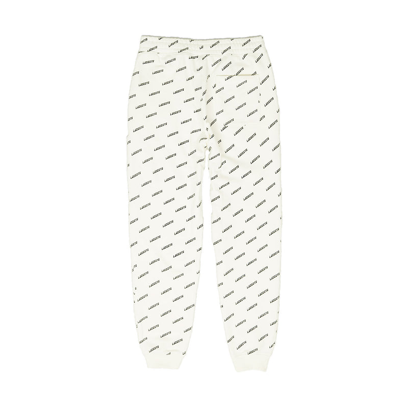 Lacoste Men's LIVE All Over Print Sweatpants Cream Back