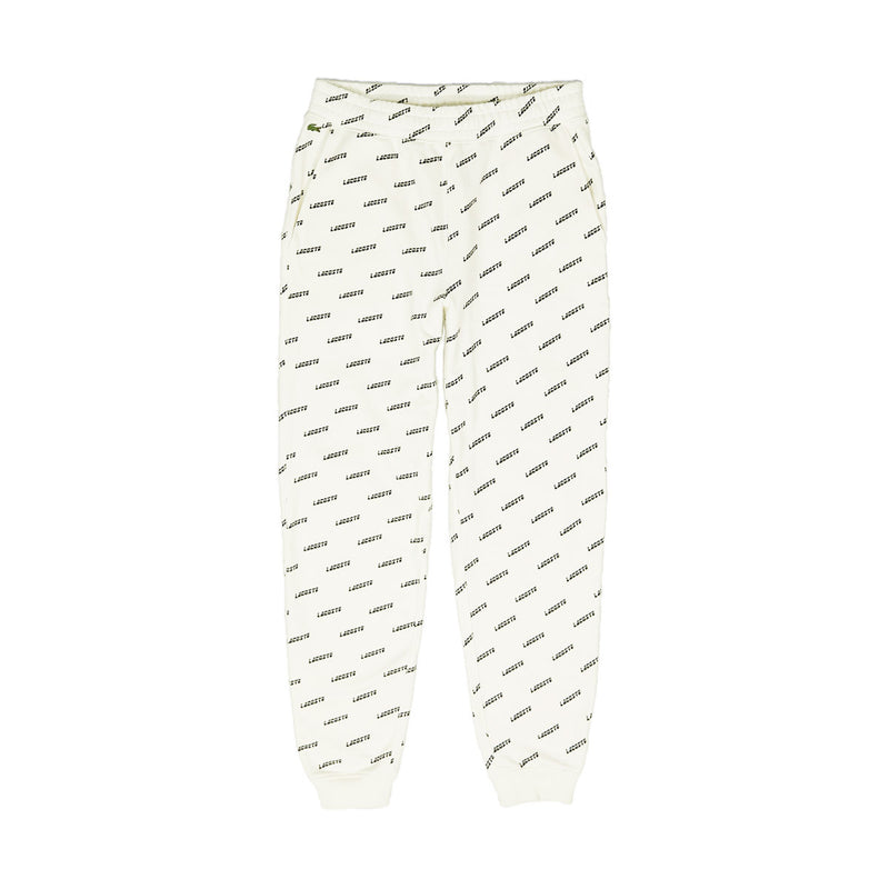 Lacoste Men's LIVE All Over Print Sweatpants Cream