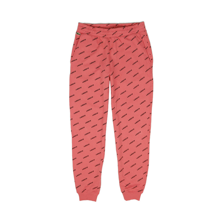 Lacoste Men's LIVE All Over Print Sweatpants Earth Tone Pink