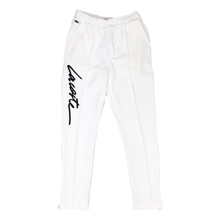 Lacoste Live Embroidered Fleece Urban Jogging Pants Cream