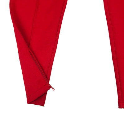 Lacoste Live Embroidered Fleece Urban Jogging Pants Red Zipper