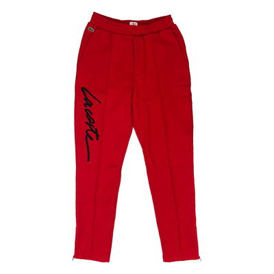 Lacoste Live Embroidered Fleece Urban Jogging Pants Red