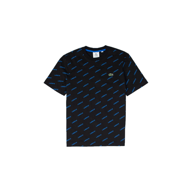 Lacoste LIVE Men's All Over Print Tee Black
