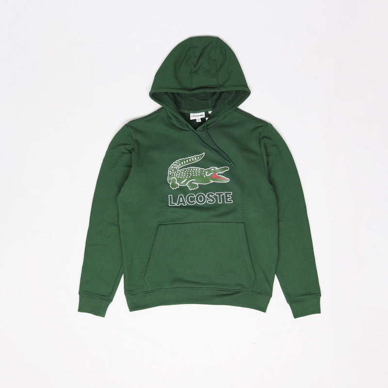 Lacoste Men's Big Croc Script Hoodie Green