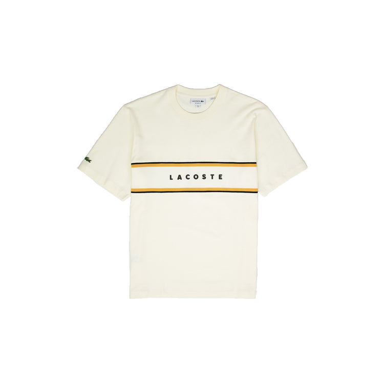 Lacoste Men's Crew Neck Cotton T-Shirt Cream