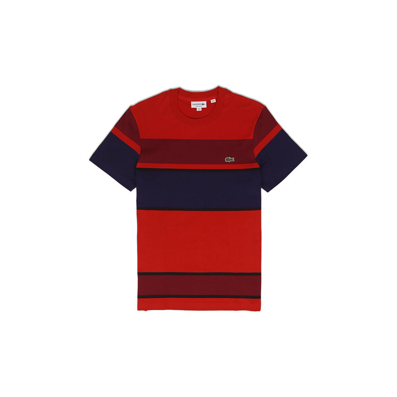 Lacoste Men's Crew Neck Cotton T-Shirt Red