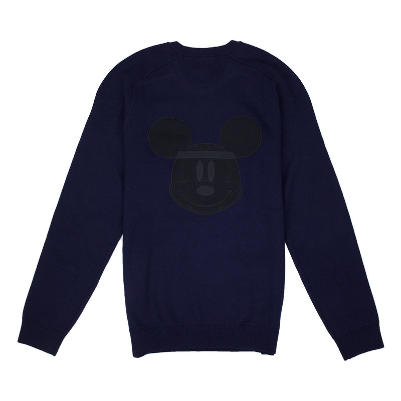 Lacoste Men's Crew Neck Disney Mickey Embroidery Interlock Sweater Navy Blue Back