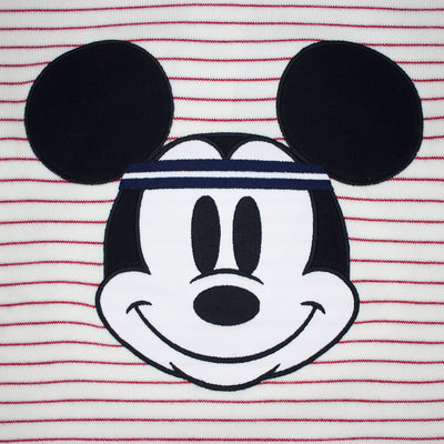 Lacoste Men's Crew Neck Disney Mickey Embroidery Interlock Sweater White / Lighthouse Red Mickey's Face