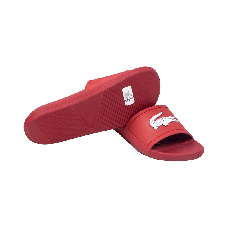 Lacoste Croco Slides Red Bottom