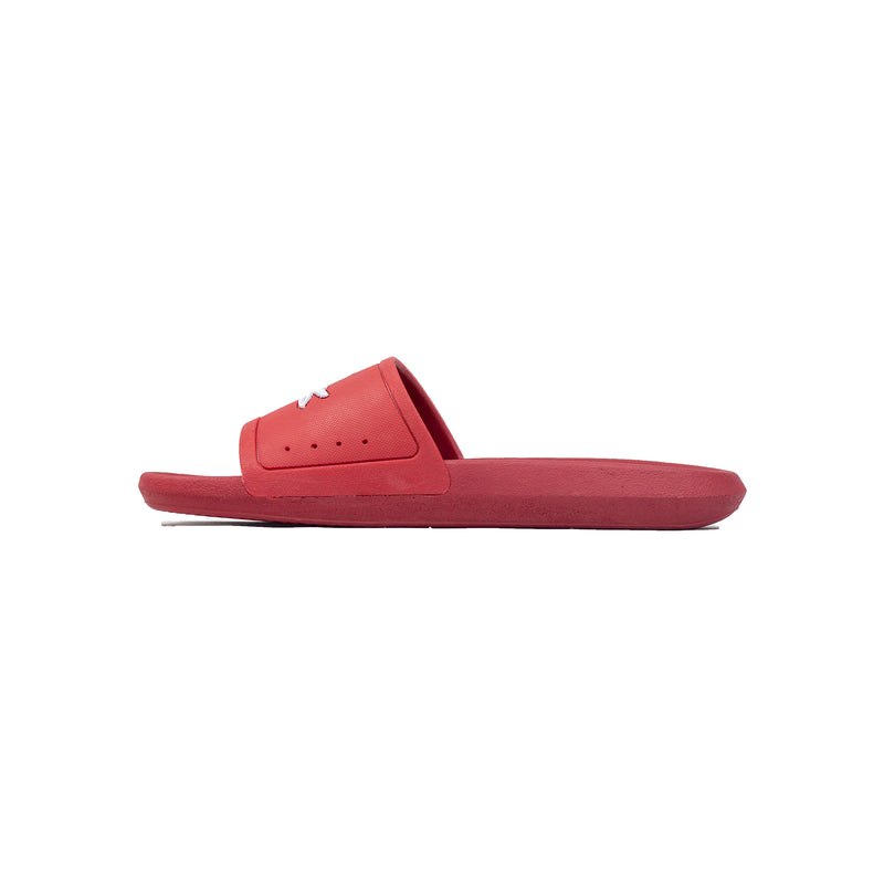 Lacoste Croco Slides Red Left