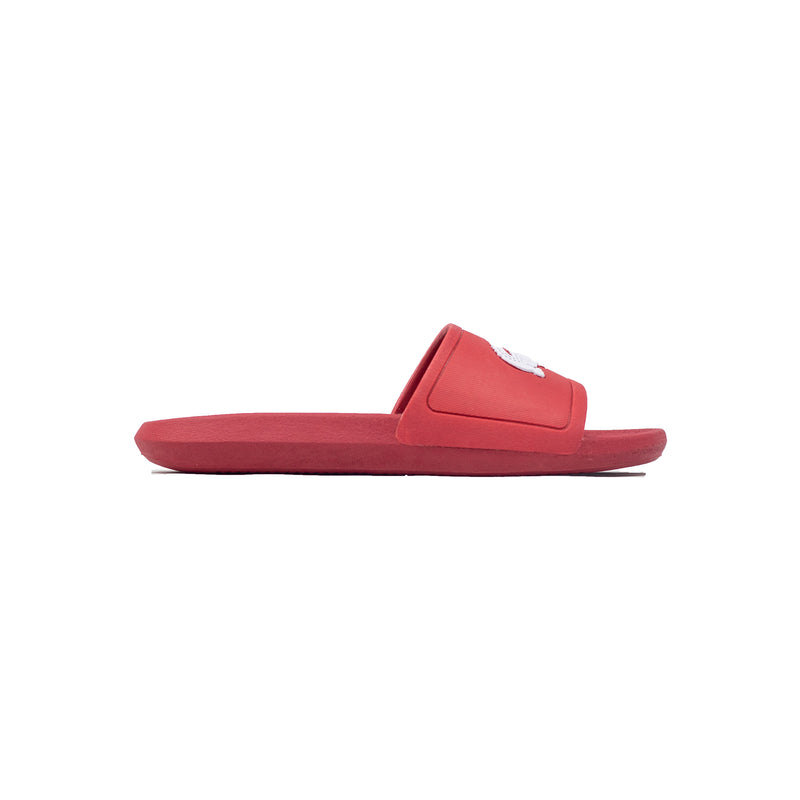 Lacoste Croco Slides Red Right