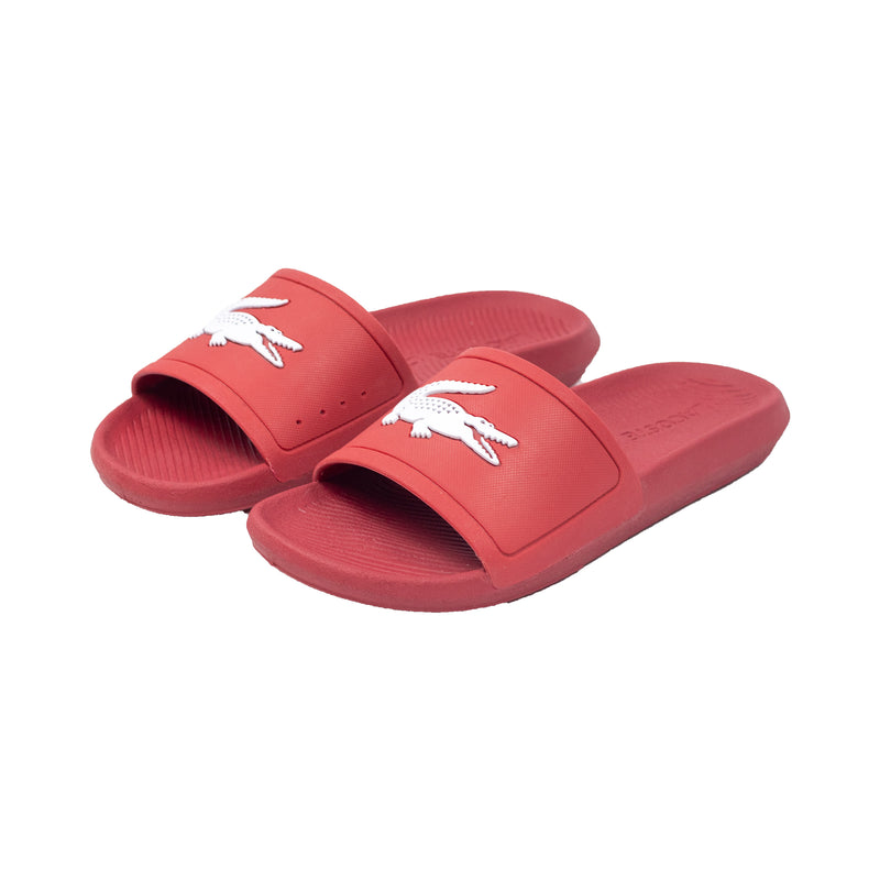 Lacoste Croco Slides Red