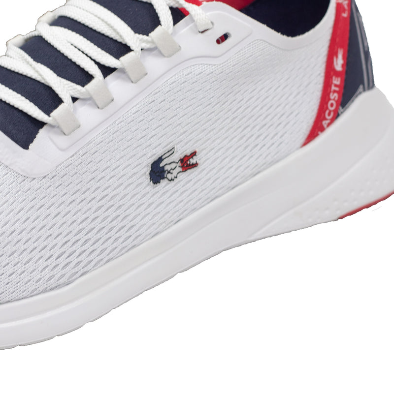 Lacoste Men's LT Fit Textile Sneakers White / Navy / Red Croc