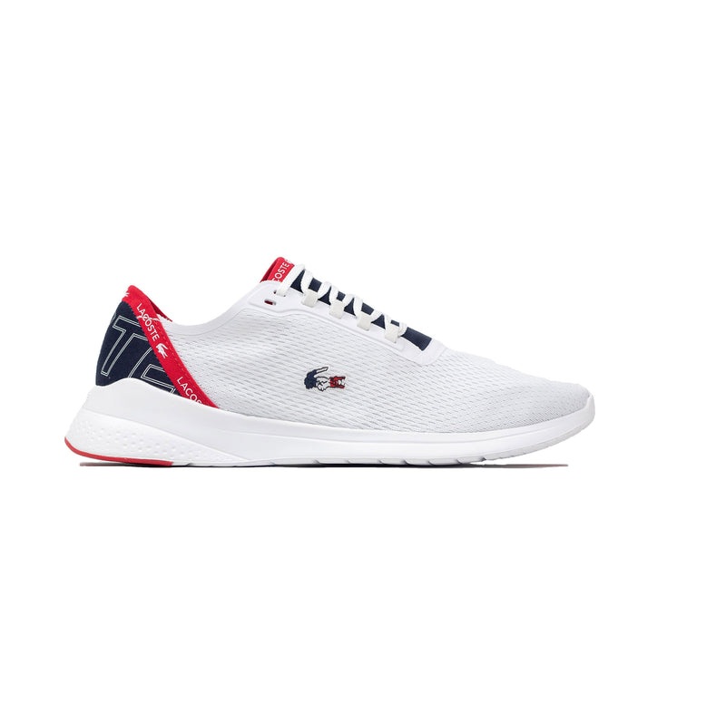 Lacoste Men's LT Fit Textile Sneakers White / Navy / Red Right