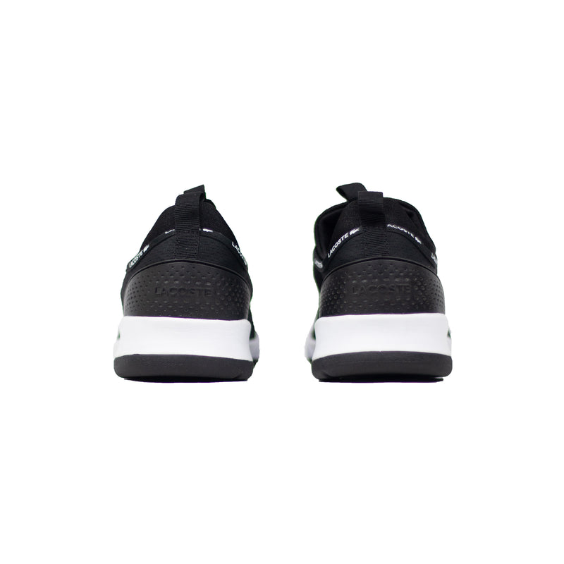 Lacoste Men's LT Spirit 2.0 Textile Trainers Black Back