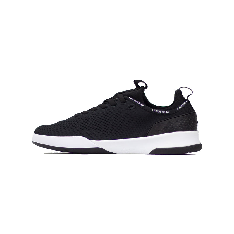 Lacoste Men's LT Spirit 2.0 Textile Trainers Black Left