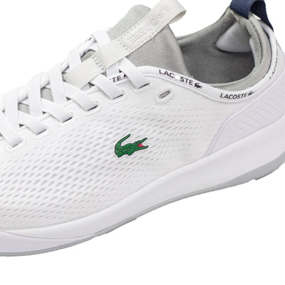 Lacoste Men's LT Spirit 2.0 Textile Trainers White / Grey Croc