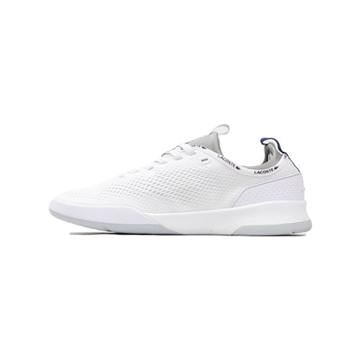 Lacoste Men's LT Spirit 2.0 Textile Trainers White / Grey Left