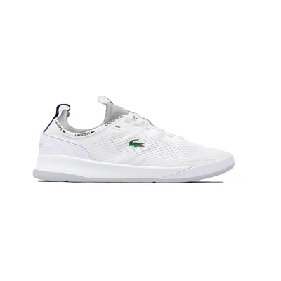 Lacoste Men's LT Spirit 2.0 Textile Trainers White / Grey Right