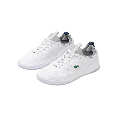 Lacoste Men's LT Spirit 2.0 Textile Trainers White / Grey