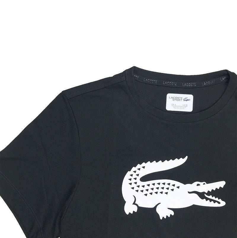 Lacoste Sport Oversized Croc Tennis Shirt Black Artwork
