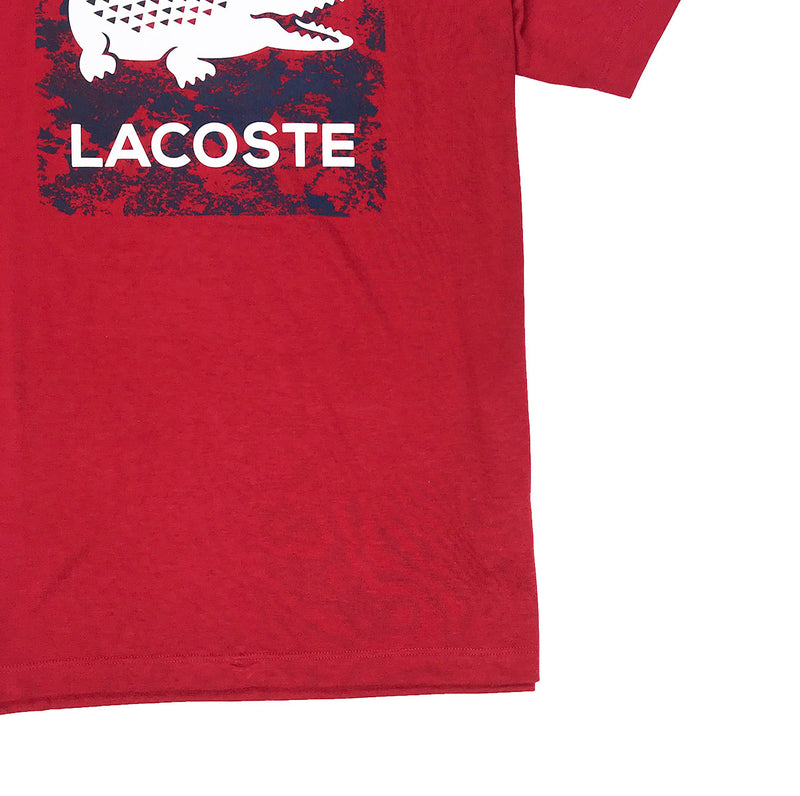 Lacoste Sport Oversized Croc Graphic T-Shirt Ladybug Red Waist