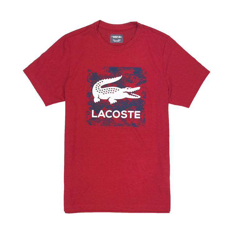 Lacoste Sport Oversized Croc Graphic T-Shirt Ladybug Red