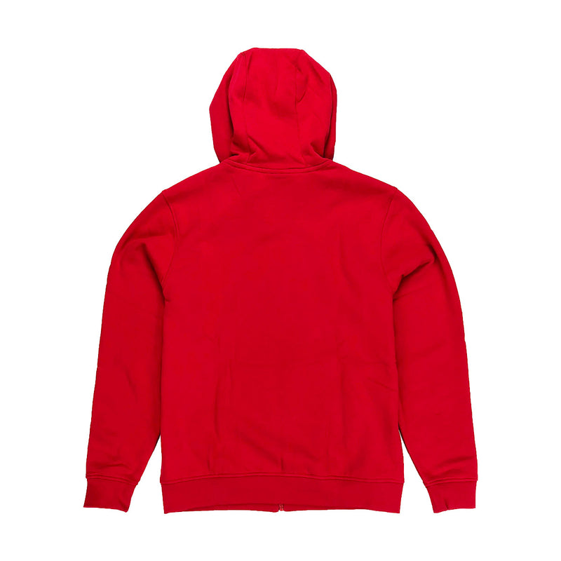 Lacoste Sport Hooded Fleece Tennis Sweatshirt Red Back