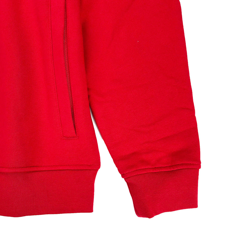 Lacoste Sport Hooded Fleece Tennis Sweatshirt Red Hem