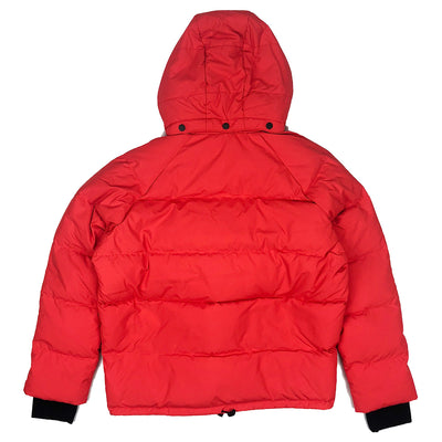 Lacoste Live Unisex Water Resistant Quilted Jacket Flash Red Back