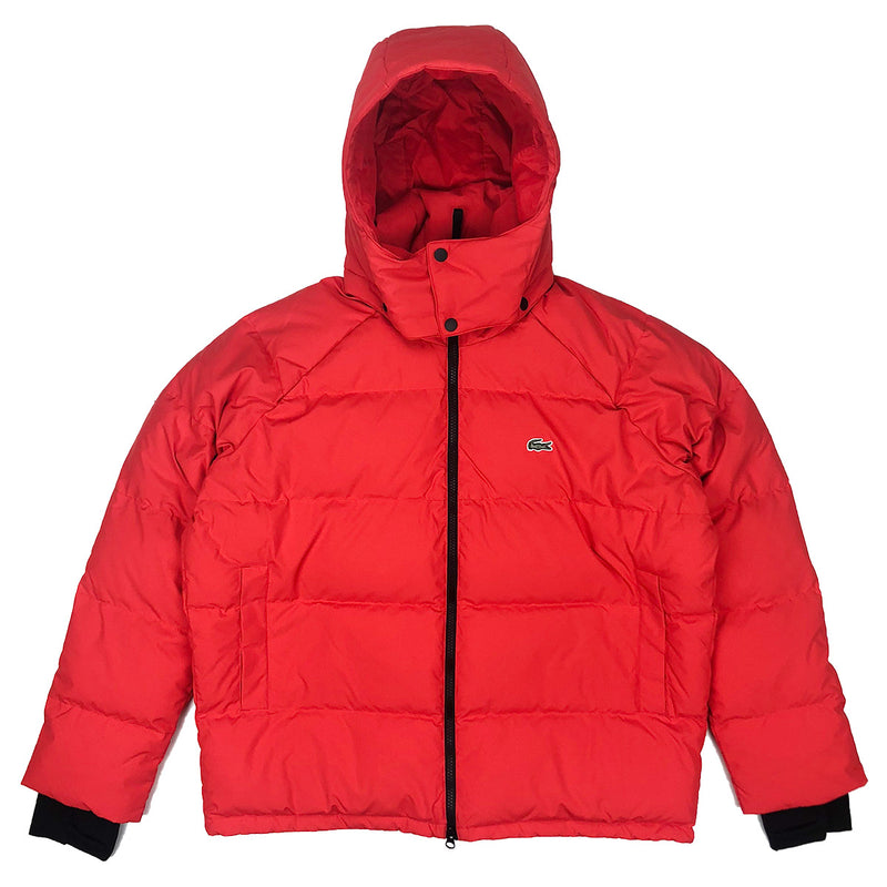 Lacoste Live Unisex Water Resistant Quilted Jacket Flash Red